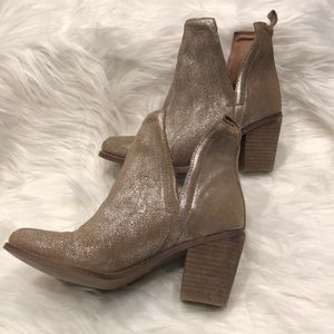 Diba True Metallic Gold Booties